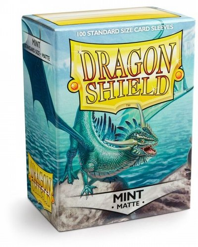 Dragon Shield Standard Size Card Game Sleeves Pack - Matte Mint