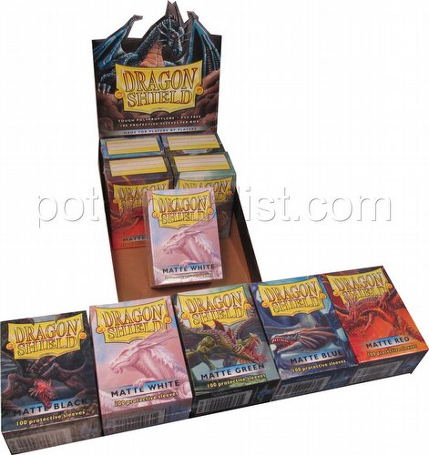 Dragon Shield Standard Size Card Game Sleeves Box - Matte Mixed Colors [Your Choice of Colors]