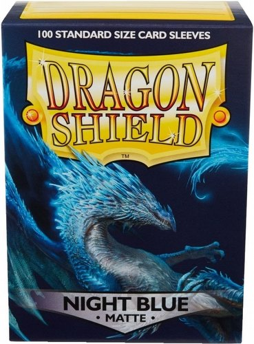 Dragon Shield Standard Size Card Game Sleeves Box - Matte Night Blue