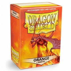Dragon Shield Standard Size Card Game Sleeves Box - Matte Orange
