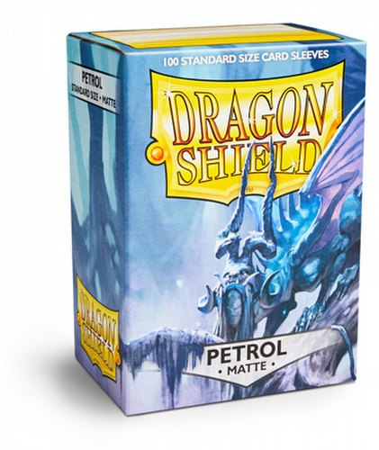 Dragon Shield Standard Size Card Game Sleeves Pack  Matte Petrol
