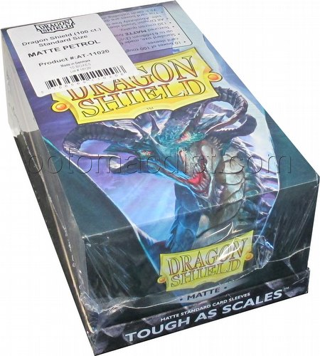 Dragon Shield Standard Size Card Game Sleeves Box - Matte Petrol