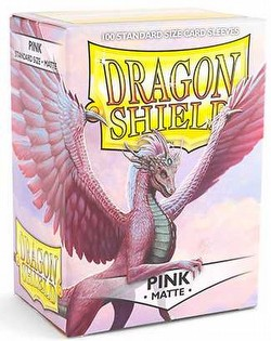 Dragon Shield Standard Size Card Game Sleeves - Matte Pink [2 packs]