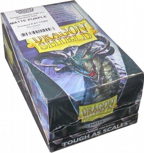 Dragon Shield Standard Size Card Game Sleeves Box - Matte Purple