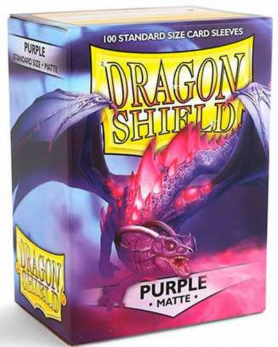 Dragon Shield Standard Size Card Game Sleeves Pack - Matte Purple