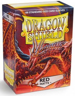 Dragon Shield Standard Size Card Game Sleeves Pack - Matte Red