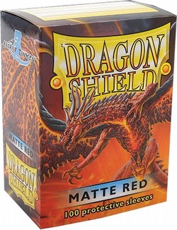 Dragon Shield Deck Protector Pack - Matte Red