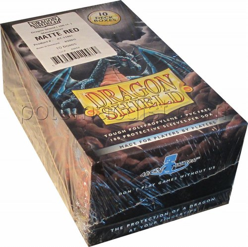 Dragon Shield Standard Size Card Game Sleeves Box - Matte Red