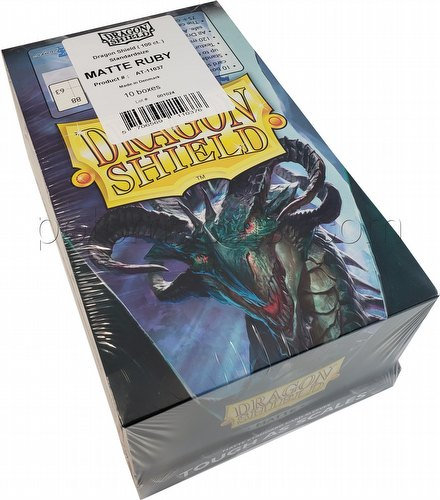 Dragon Shield Standard Size Card Game Sleeves Box - Matte Ruby
