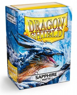 Dragon Shield Standard Size Card Game Sleeves - Matte Sapphire [2 packs]