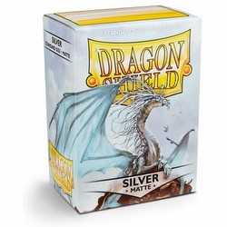 Dragon Shield Standard Size Card Game Sleeves Box - Matte Silver