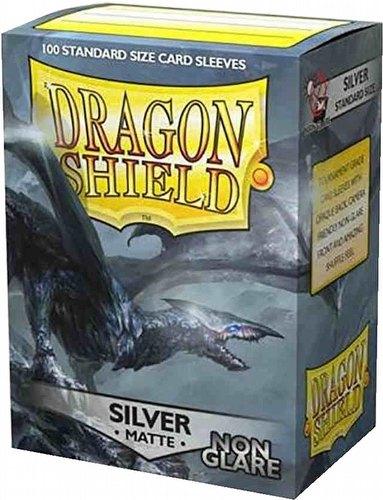 Dragon Shield Sleeves Pack - Matte Silver Non-Glare