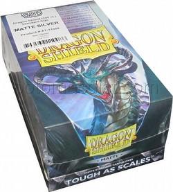 Dragon Shield Standard Size Card Game Sleeves Box - Matte Silver