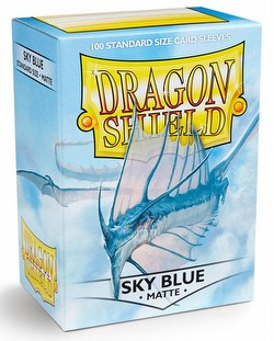 Dragon Shield Standard Size Card Game Sleeves Pack - Matte Sky Blue