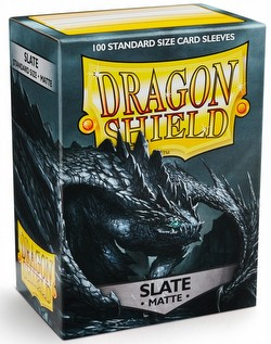 Dragon Shield Standard Size Card Game Sleeves Pack - Matte Slate