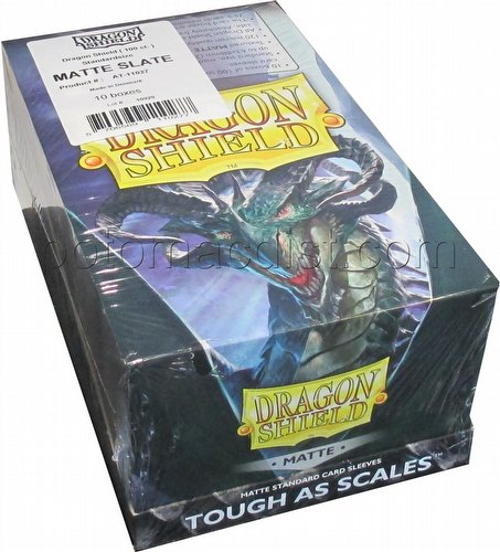 Dragon Shield Standard Size Card Game Sleeves Box - Matte Slate