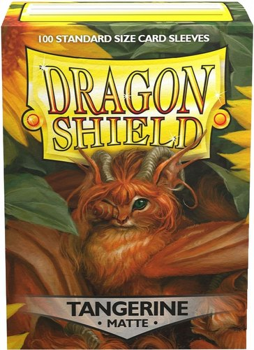Dragon Shield Standard Size Card Game Sleeves Box - Matte Tangerine