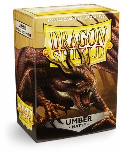 Dragon Shield Standard Size Card Game Sleeves Box - Matte Umber