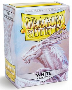 Dragon Shield Standard Size Card Game Sleeves - Matte White [2 packs]