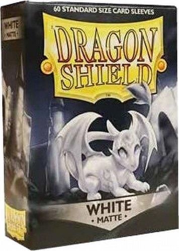 Dragon Shield Standard Size Card Game Sleeves Box - Matte White [60 ct.]