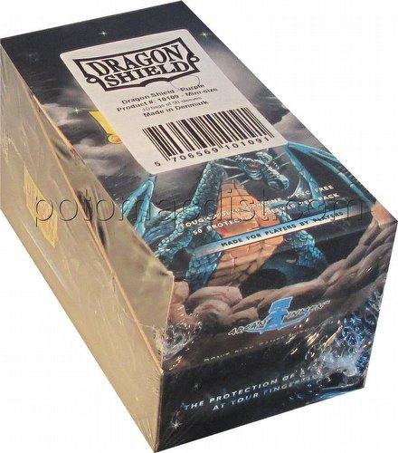 Dragon Shield Mini (Yu-Gi-Oh Size) Card Sleeves Box - Purple [10 packs]