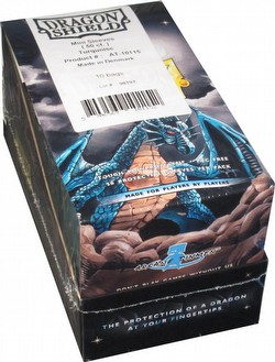Dragon Shield Mini (Yu-Gi-Oh Size) Deck Protector Box - Turquoise [10 packs]