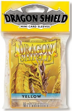 Dragon Shield Mini (Yu-Gi-Oh Size) Card Sleeves Pack - Yellow