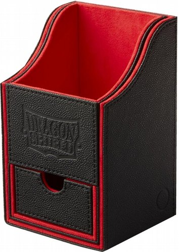 Dragon Shield Nest+ 100 Deck Box - Black/Red