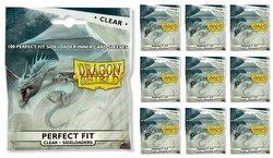 Dragon Shield Perfect Fit Side-Loading Sleeves - Clear [10 Packs]