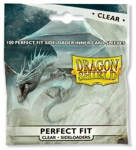 Dragon Shield Perfect Fit Side-Loading Sleeves Pack - Clear