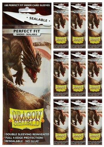 Dragon Shield Perfect Fit Sealable Sleeves - Smoke [10 packs]