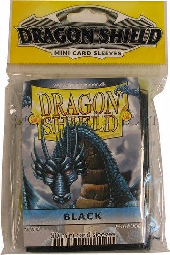 Dragon Shield Mini (Yu-Gi-Oh Size) Card Sleeves Pack - Black