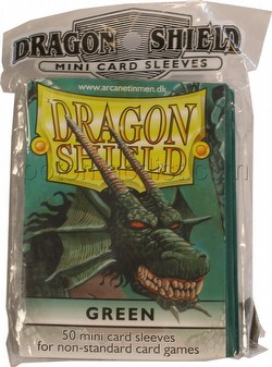 Dragon Shield Mini (Yu-Gi-Oh Size) Card Sleeves Pack - Green