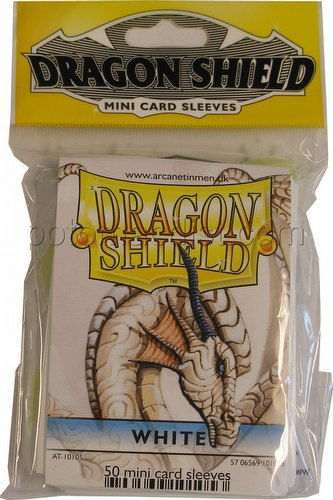 Dragon Shield Mini (Yu-Gi-Oh Size) Card Sleeves Pack - White