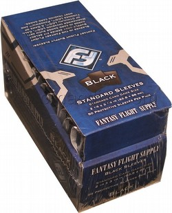 Fantasy Flight Standard Size Card Game Sleeves Box - Black