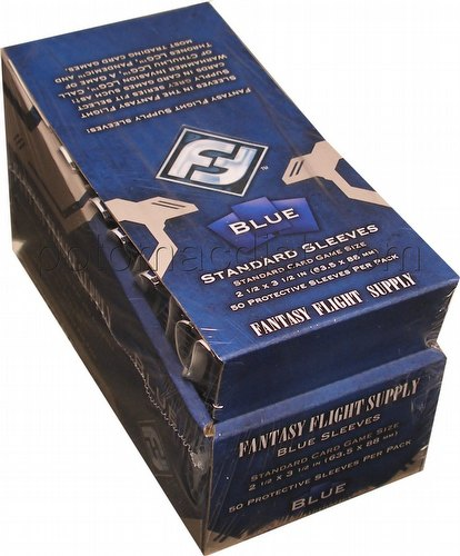 Fantasy Flight Standard Size Card Game Sleeves Box - Blue