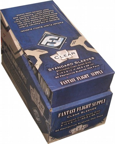 Fantasy Flight Standard Size Card Game Sleeves Box - Clear [FFS05]
