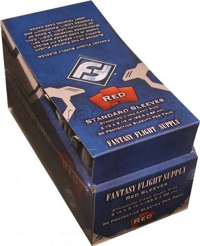 Fantasy Flight Standard Size Deck Protectors Box - Red