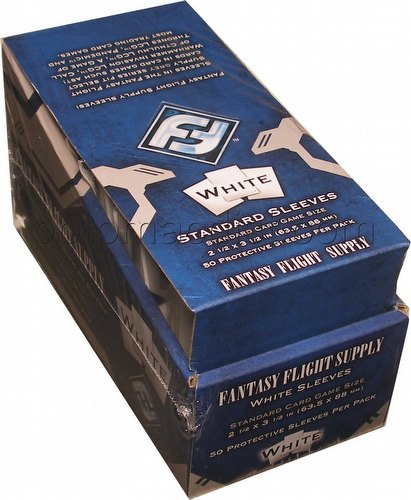 Fantasy Flight Standard Size Card Game Sleeves Box - White