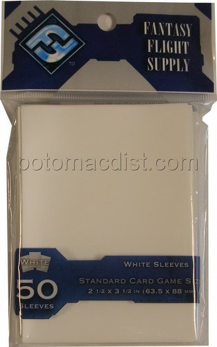 Fantasy Flight Standard Size Deck Protectors Pack - White
