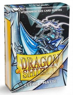 Dragon Shield Japanese (Yu-Gi-Oh Size) Card Sleeves Box - Matte Clear [10 packs]