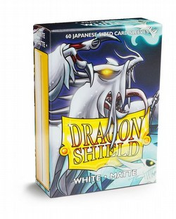 Dragon Shield Japanese (Yu-Gi-Oh Size) Card Sleeves Box - Matte White [10 packs]