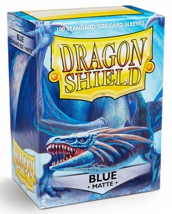 Dragon Shield Standard Size Card Game Sleeves Box - Matte Blue