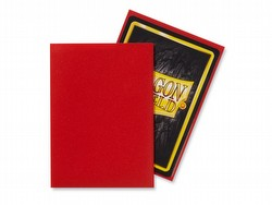 Dragon Shield Standard Size Card Game Sleeves Box - Matte Crimson