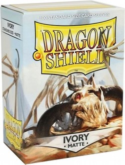 Dragon Shield Standard Size Card Game Sleeves Box - Matte Ivory