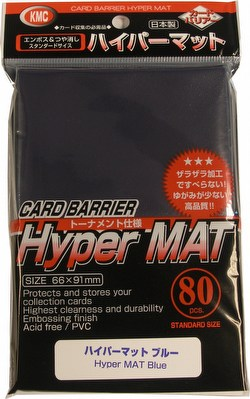 KMC Card Barrier Mat Series Standard Size Sleeves - Hyper Matte Blue Case [30 packs]