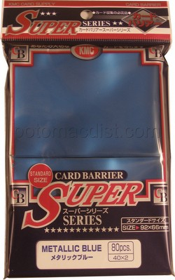 KMC Card Barrier Super Series Standard Size Sleeves - Metallic Blue Case [30 packs]