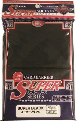 KMC Card Barrier Super Series Standard Size Deck Protectors - Super Black Case [30 packs]