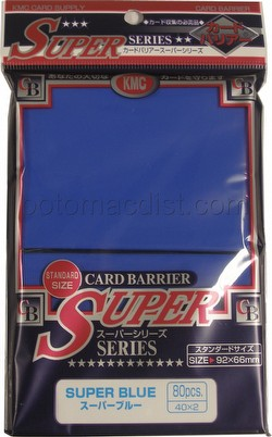 KMC Card Barrier Super Series Standard Size Deck Protectors - Super Blue [10 packs]