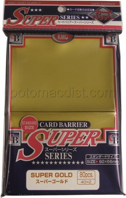 KMC Card Barrier Super Series Standard Size Sleeves - Super Gold [10 packs]